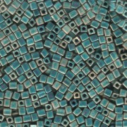 Miyuki Würfel Perlen, Cube, Square Beads 3mm 2008 metallic rainbow matt Turquoise - Light Green 20gr