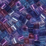 Miyuki Würfel Perlen 3mm Mix11 Caribbean Blue ca 20 Gr.