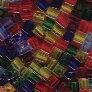 Miyuki Würfel Perlen 3mm Mix16 Rainbow ca 25 Gr.