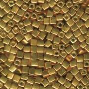 Miyuki Würfel Perlen, Cube, Square Beads 4mm 1053 galvanized Gold 20gr