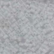 Miyuki Würfel Perlen, Cube, Square Beads 1,8mm 0131F transparent Clear matt 12gr