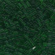 Miyuki Würfel Perlen, Cube, Square Beads 1,8mm 0146 transparent Kelly Green 12gr