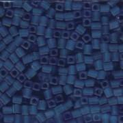 Miyuki Würfel Perlen, Cube, Square Beads 4mm 0149F transparent matt Cobalt 20gr