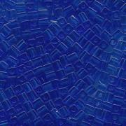 Miyuki Würfel Perlen, Cube, Square Beads 1,8mm 0150 transparent Sapphire Blue 12gr