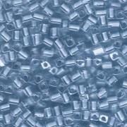Miyuki Würfel Perlen, Cube, Square Beads 1,8mm 0221 insinde colorlined Sky Blue 12gr