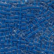 Miyuki Würfel Perlen, Cube, Square Beads 1,8mm 0238 insinde colorlined Royal Blue 12gr