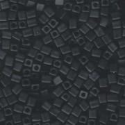 Miyuki Würfel Perlen, Cube, Square Beads 1,8mm 0401F opaque matte Black 12gr