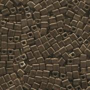 Miyuki Würfel Perlen, Cube, Square Beads 1,8mm 0457 metallic Bronze 12gr