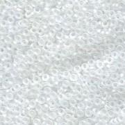 Miyuki Spacer Perlen 2,2X1mm matt rainbow Crystal ca 10 gr