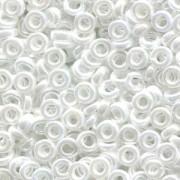 Miyuki Spacer Perlen 3X1,3mm opaque luster White ca 10 gr