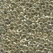 Miyuki Spacer Perlen 2,2X1mm galvanized Silver ca 10 gr