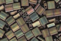 Miyuki Tila Perlen 5mm Metallic Rainbow Matte Antique Bronze TL2035 7,2gr