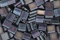 Miyuki Tila Perlen 5mm Black AB Matt TL0401FR 7,2gr