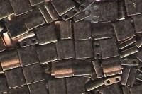 Miyuki Tila Perlen 5mm Dark Bronze TL0457 7,2gr