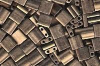 Miyuki Tila Perlen 5mm Metallic Gold Matt TL2006 7,2gr