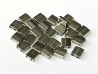 Miyuki Tila Perlen 5mm Black Argentic Full TL55097 ca 7,2gr