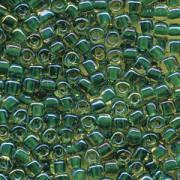 Miyuki Dreieck Perlen, Triangle Beads 2,5mm 1165 colorlined Gold Green 13gr
