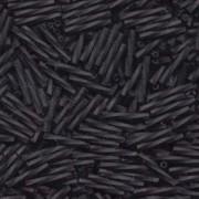 Miyuki Stäbchen Perlen gedreht 12mm 0401F opaque matt Black ca14gr.