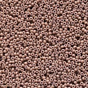 Miyuki Rocailles Perlen 2mm 4455 Duracoat opaque dyed Grey ca 12gr