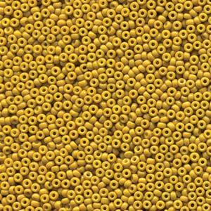 Miyuki Rocailles Perlen 2mm 4456 Duracoat opaque dyed Light Olive ca 12gr