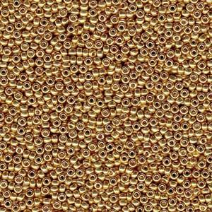Miyuki Rocailles Perlen 2mm 4202 Duracoat galvanized Gold ca 23,5gr