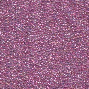 Miyuki Rocailles Perlen 1,5mm 0264 Magenta Lined Cystal ca 11gr