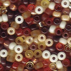 Miyuki Rocailles Perlen 3mm Mix04 Wheatberry ca 22gr