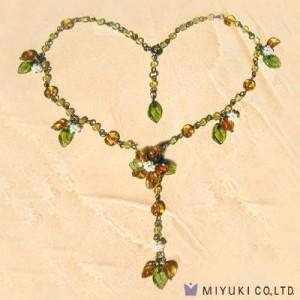 Miyuki Bead Jewelry Kit BFK 72 Orange Flower Necklace