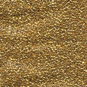 Miyuki Delica Perlen  1,6mm DB0031 metallic 24 Karat Gold plated 5gr