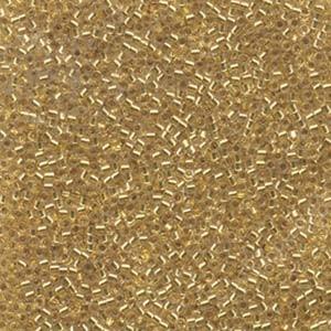 Miyuki Delica Perlen 1,3mm DBS0033 colorlined 24 Karat Goldlined 5gr