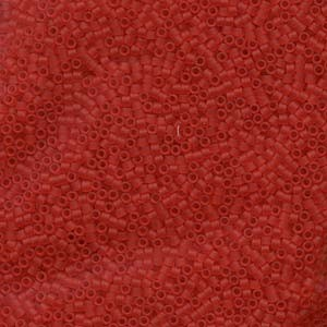 Miyuki Delica Perlen 1,6mm DB0745 Transparent matt light Red 5gr