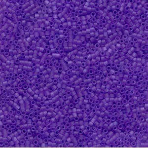 Miyuki Delica Perlen 1,6mm DB0783 Transparent Dyed matt Purple 5gr