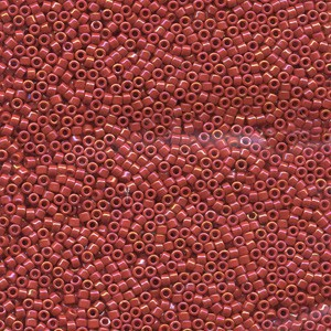 Miyuki Delica Perlen 2,2mm DBM0214 opaque luster Red 7,2 Gr.