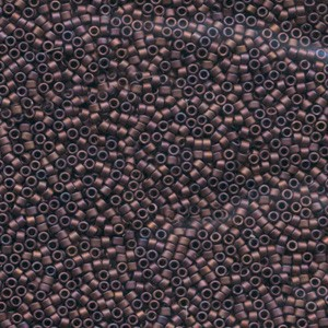 Miyuki Delica Perlen 1,3mm DBS0312 metallic matte Dark Copper 5gr