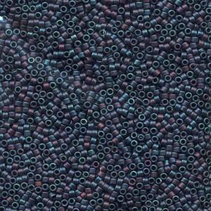 Miyuki Delica Perlen 1,3mm DBS0325 metallic rainbow matte Blue 5gr