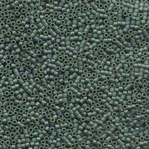 Miyuki Delica Perlen 1,6mm DB0373 metallic matte Dark Sage Green 5gr