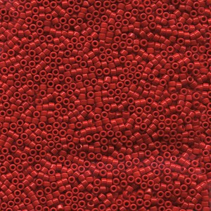 Miyuki Delica Perlen 2,2mm DBM0723 opaque Red 7,2 Gr.