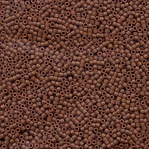 Miyuki Delica Perlen 1,6mm DB0794 opaque semi matte Rusty Brown 5gr