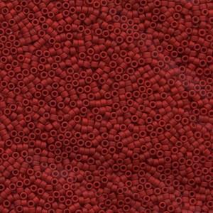 Miyuki Delica Perlen 1,6mm DB0796 opaque semi matte Redish Orange 5gr