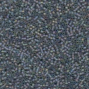 Miyuki Delica Perlen 1,3mm DBS0863 transparent rainbow matte Grey 5gr