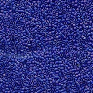 Miyuki Delica Perlen 1,3mm DBS0880 opaque rainbow matte Dark Blue 5gr