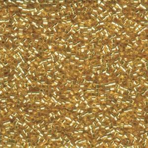 Miyuki Delica Perlen 1,6mm Hexcut DBC0042 transparent silverlined Gold 5gr