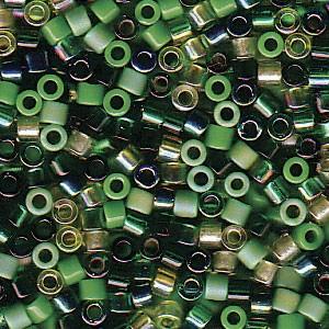 Miyuki Delica Perlen 2,2mm Mix03 Evergreen 7,2 Gr.