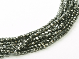 Glasschliffperlen 2mm Crystal Full Chrome ca 150 Stück