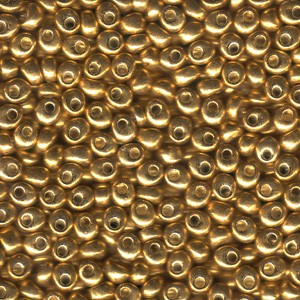 Miyuki Magatama Perlen 4mm 1053 metallic Gold ca 24gr