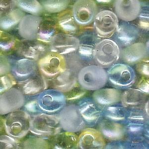 Miyuki Magatama Perlen 4mm Mix Lagoon ca 25 Gr.