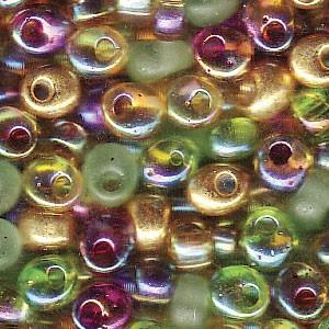 Miyuki Magatama Perlen 4mm Mix Earthtone ca 25 Gr.