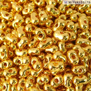 Miyuki Berry Beads 2,5x4,5mm BB0191 24 Karat Gold Plated matt ca 4,5gr