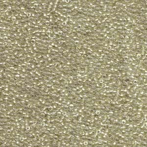 Miyuki Rocailles Perlen 1,5mm 1521 sparkle light bronze lined Crystal 11gr