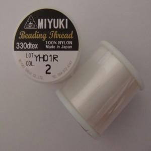 Miyuki Perlenfaden elfenbein 50m